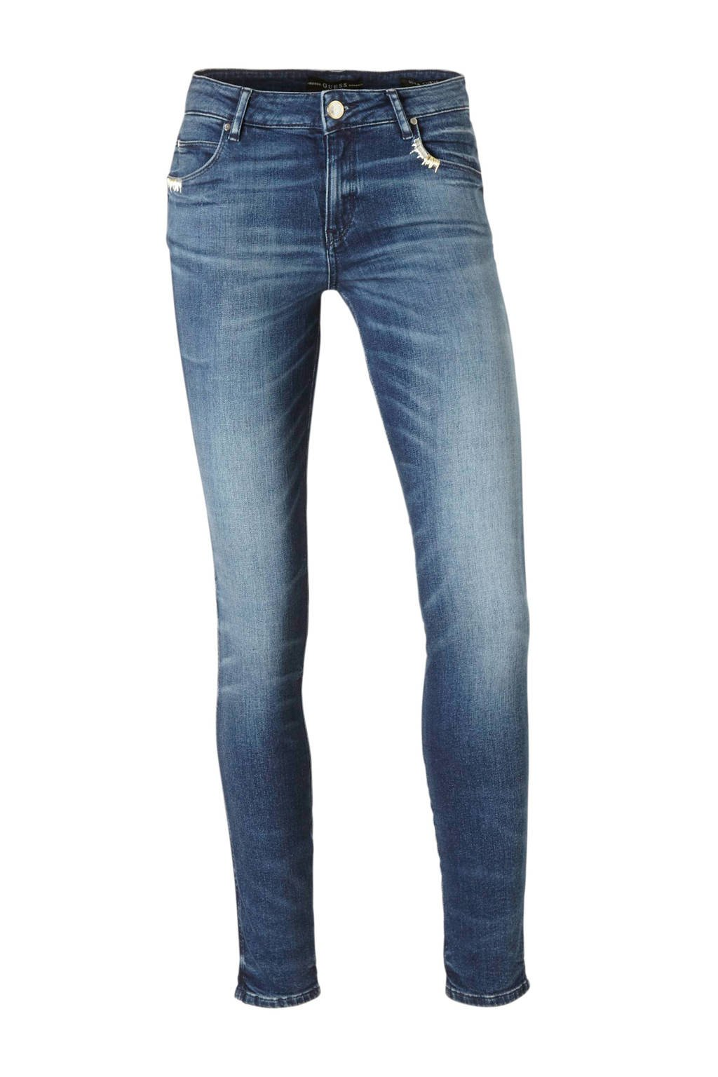 GUESS slim fit jeans, Blauw