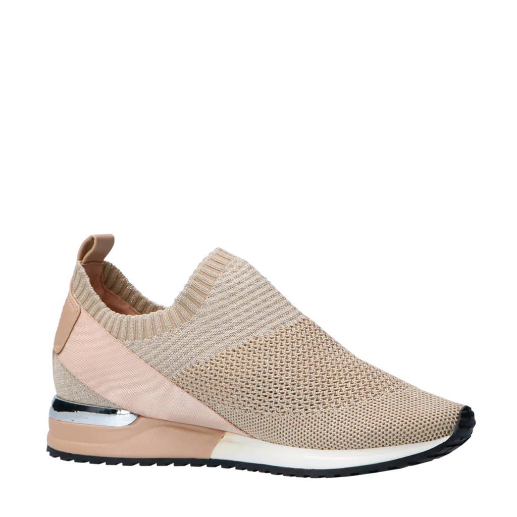 La Strada  sneakers beige/goud, Beige/goud