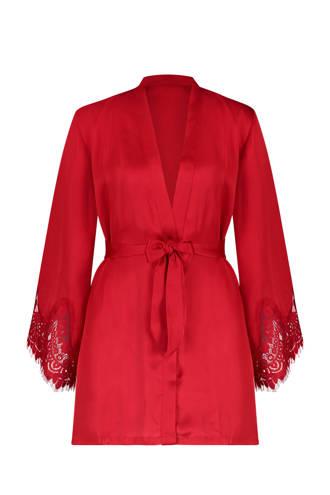 kimono met kant rood