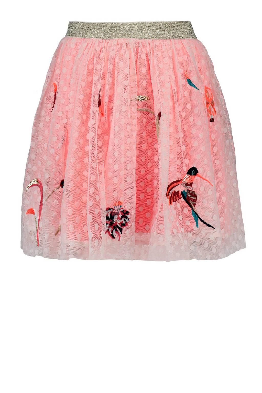 CKS KIDS tule rok met borduursels roze, Roze