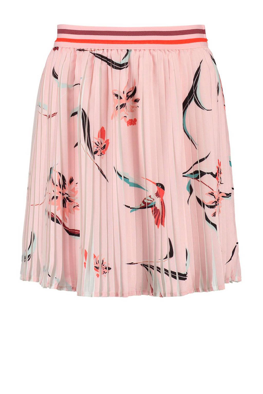 CKS KIDS plissérok Gwenael met vogels roze, Lichtroze