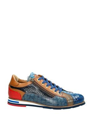 leren sneakers blauw