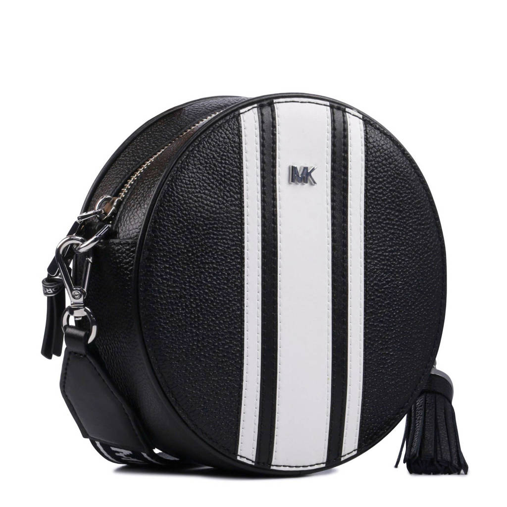 Michael Kors  MD Canteen Stripe Crossbody schoudertas, Zwart