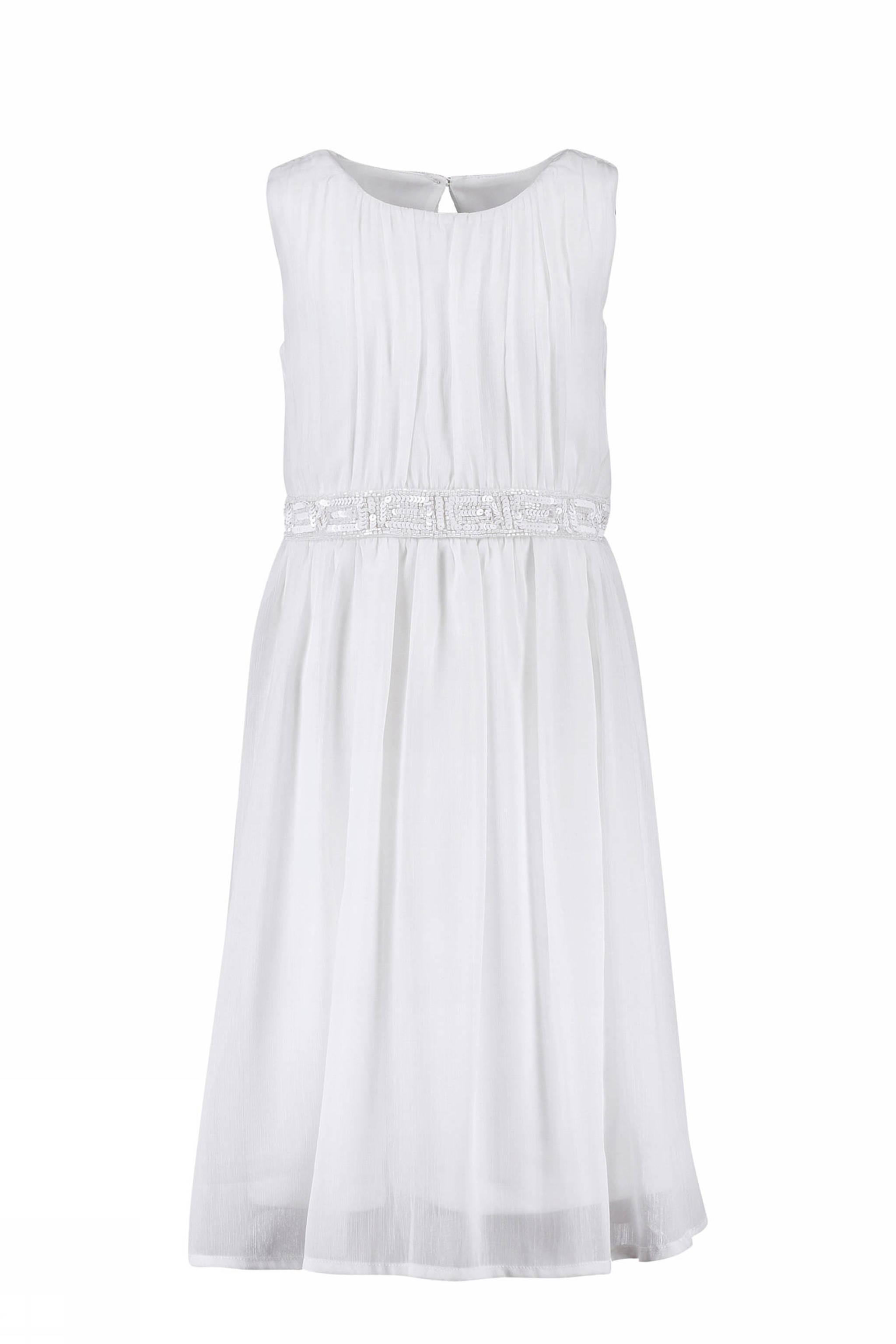 3613366267d961 CKS KIDS jurk Nitara met pailletten wit