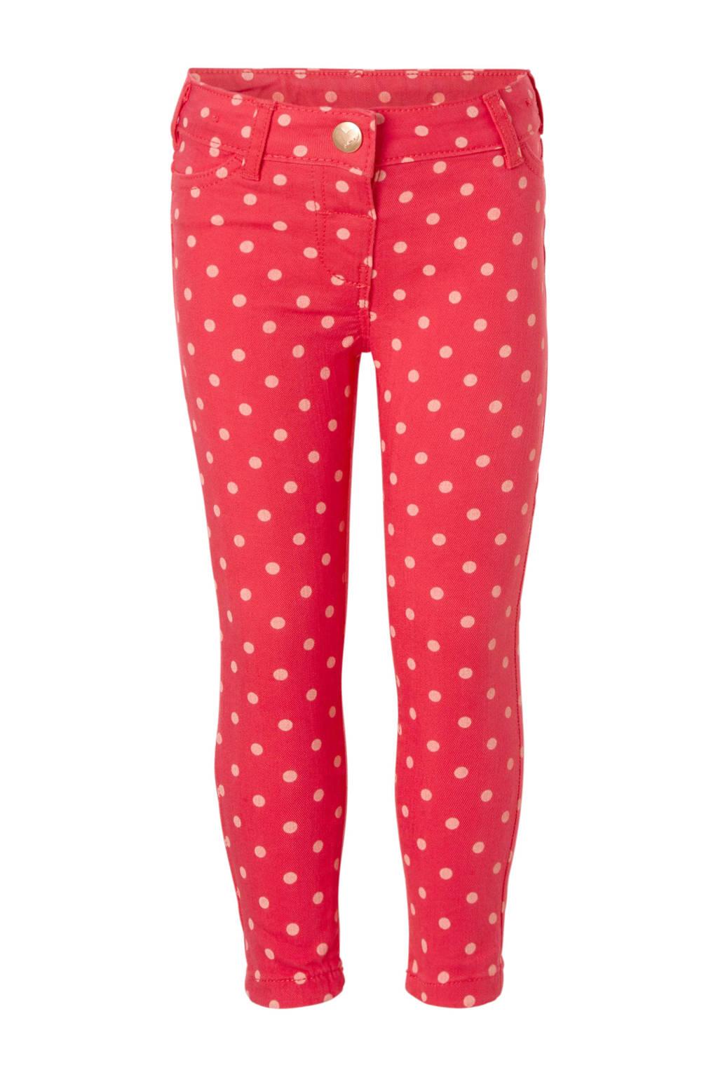 C&A Palomino skinny fit broek met stippen roze, Roze