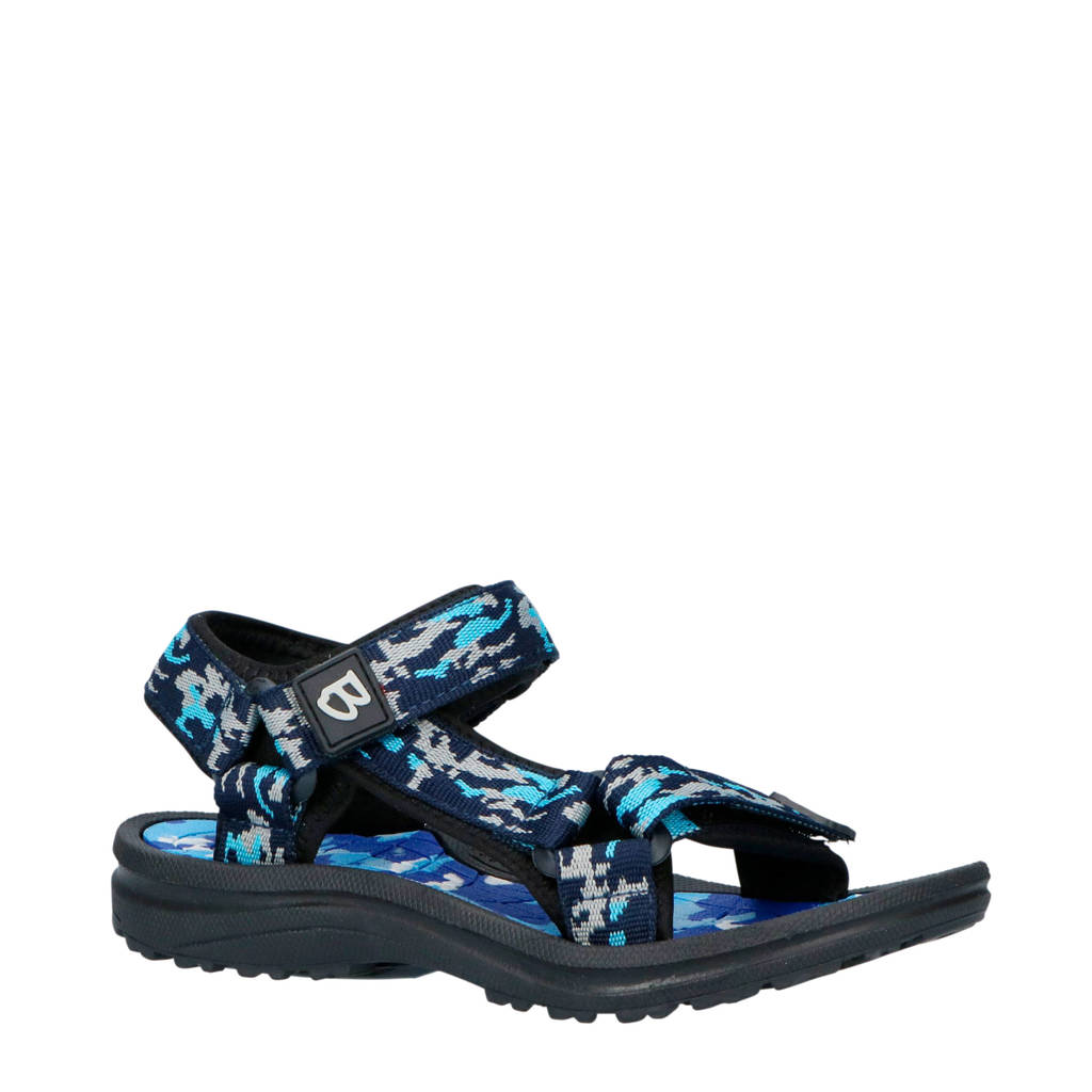 Braqeez sandalen blauw, Blauw/zwart