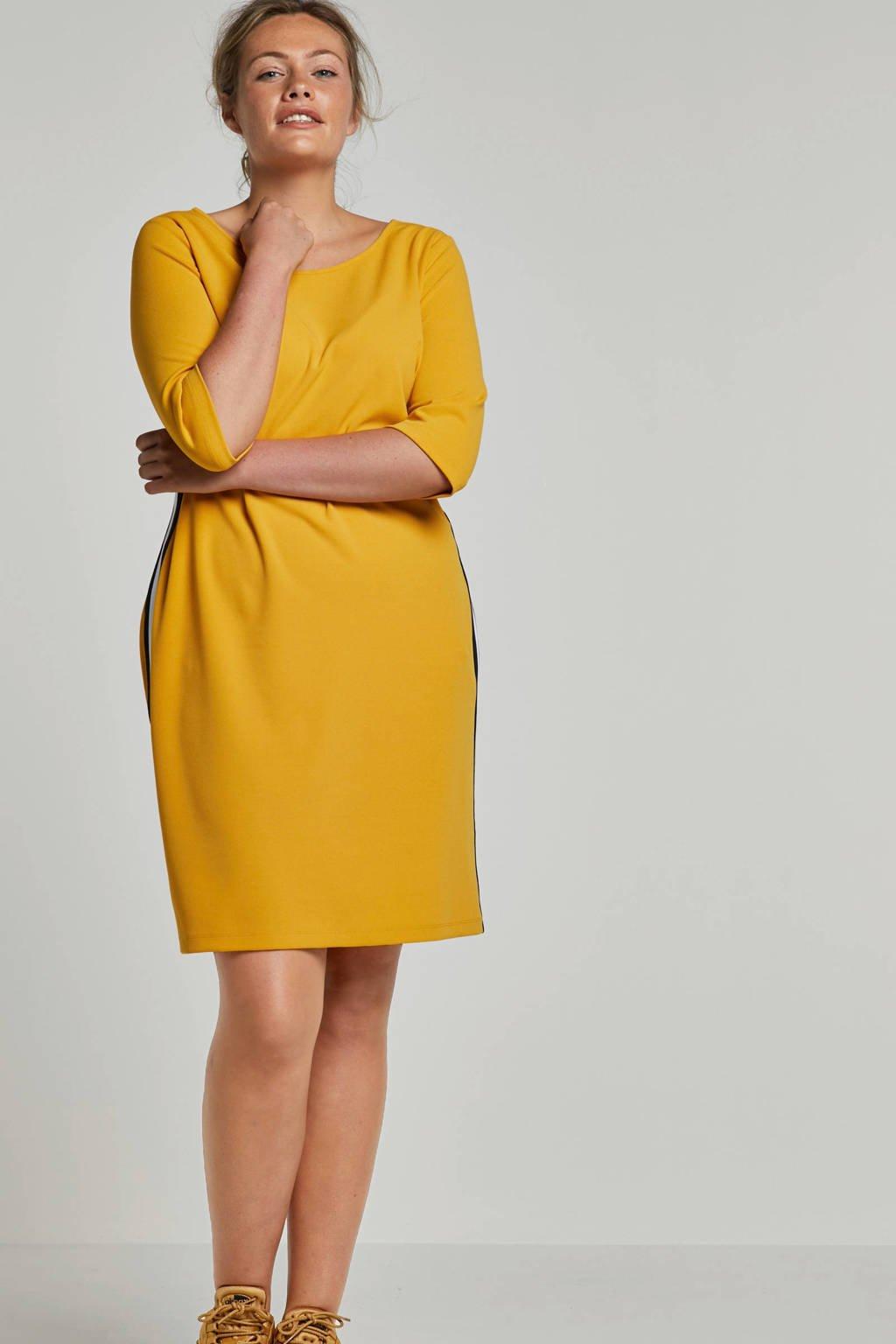 whkmp's great looks jersey jurk, Okergeel