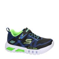 Skechers   sneakers met lichtjes zwart/blauw, Zwart/blauw