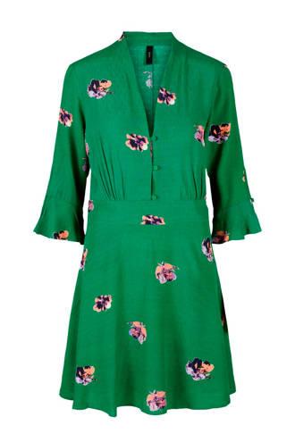 jurk met bloemenprint groen