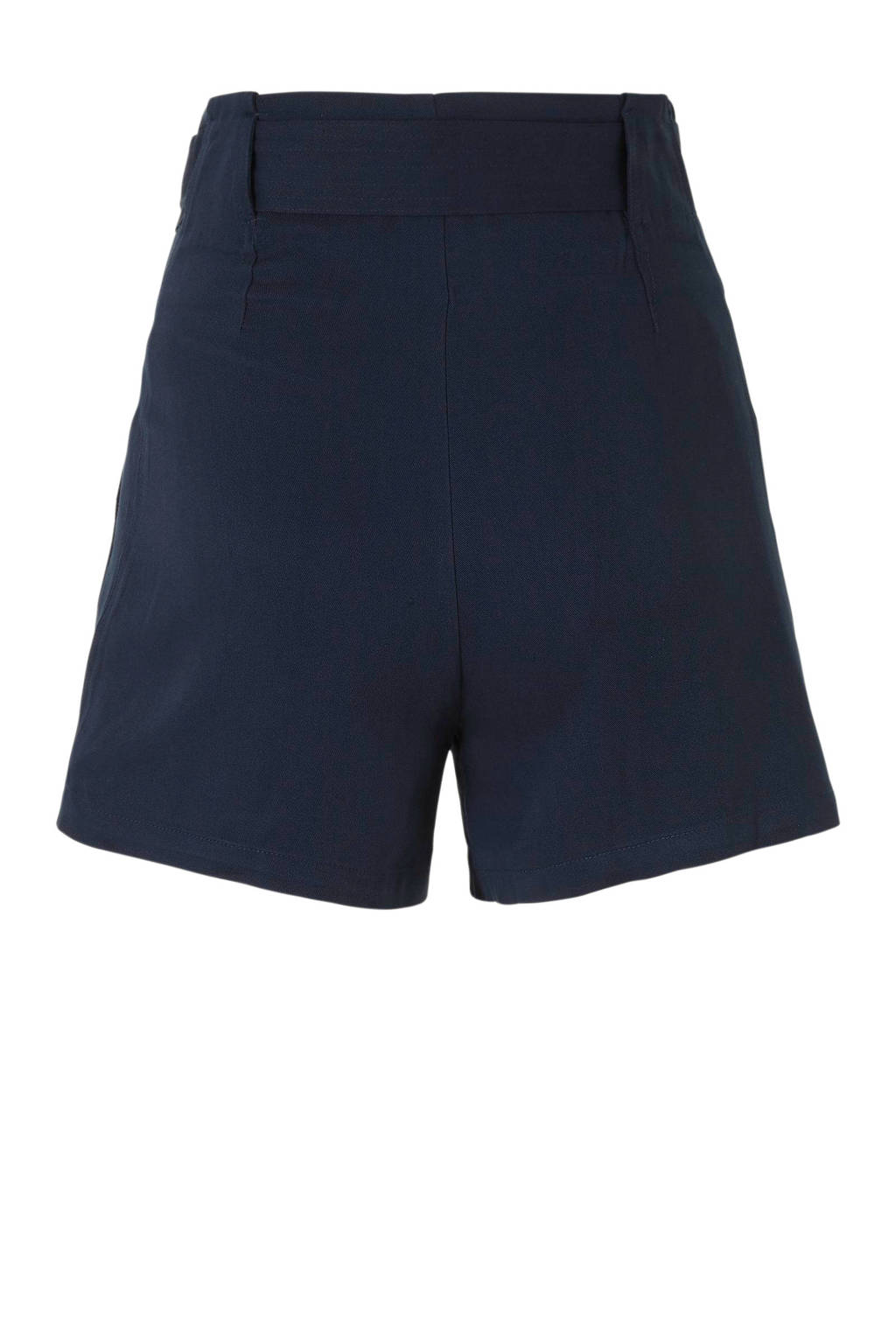 Y.A.S high waist loose fit short donkerblauw, Donkerblauw
