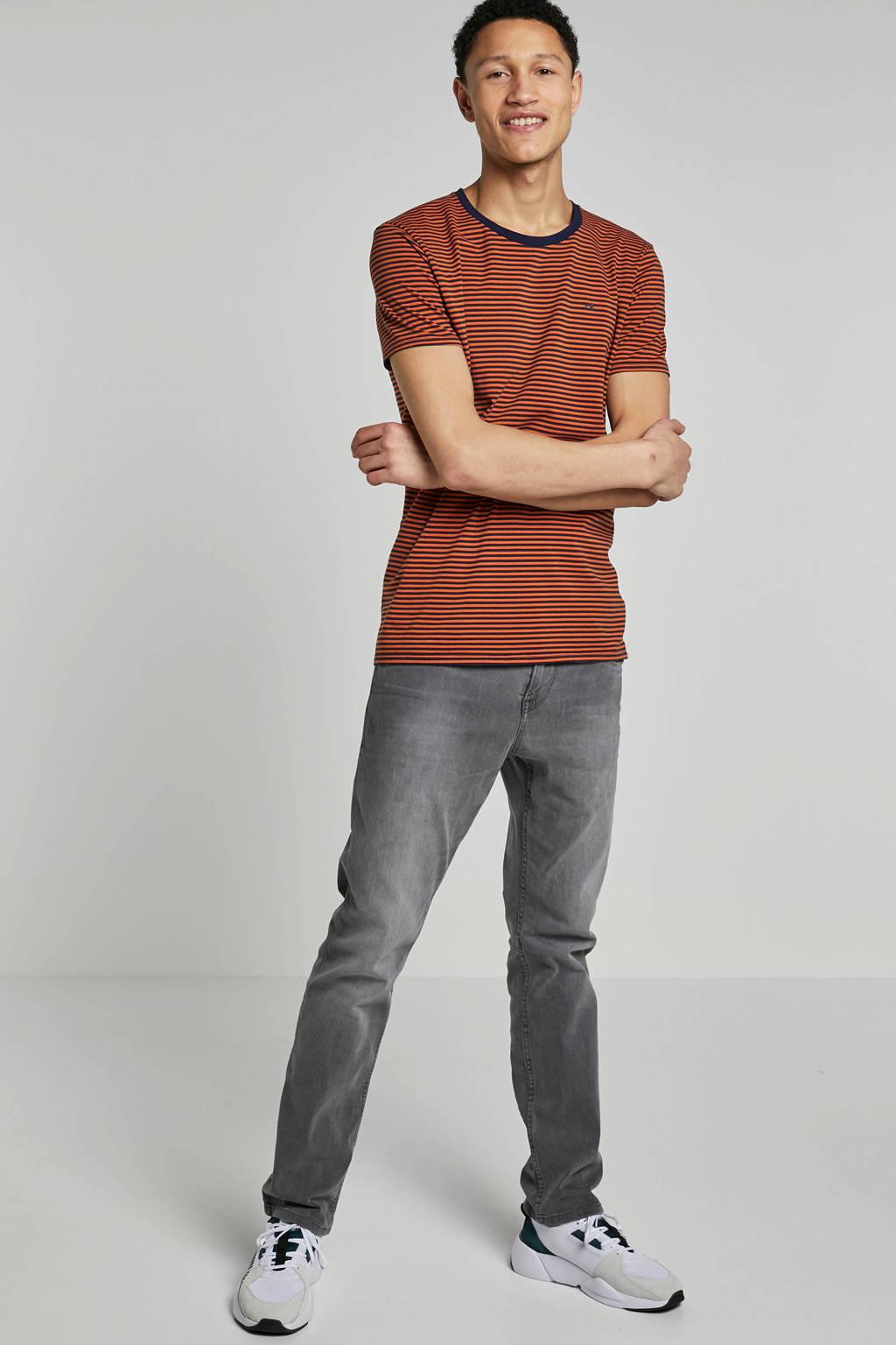 Tom Tailor Denim slim fit jeans Aeden grey denim, Grijs