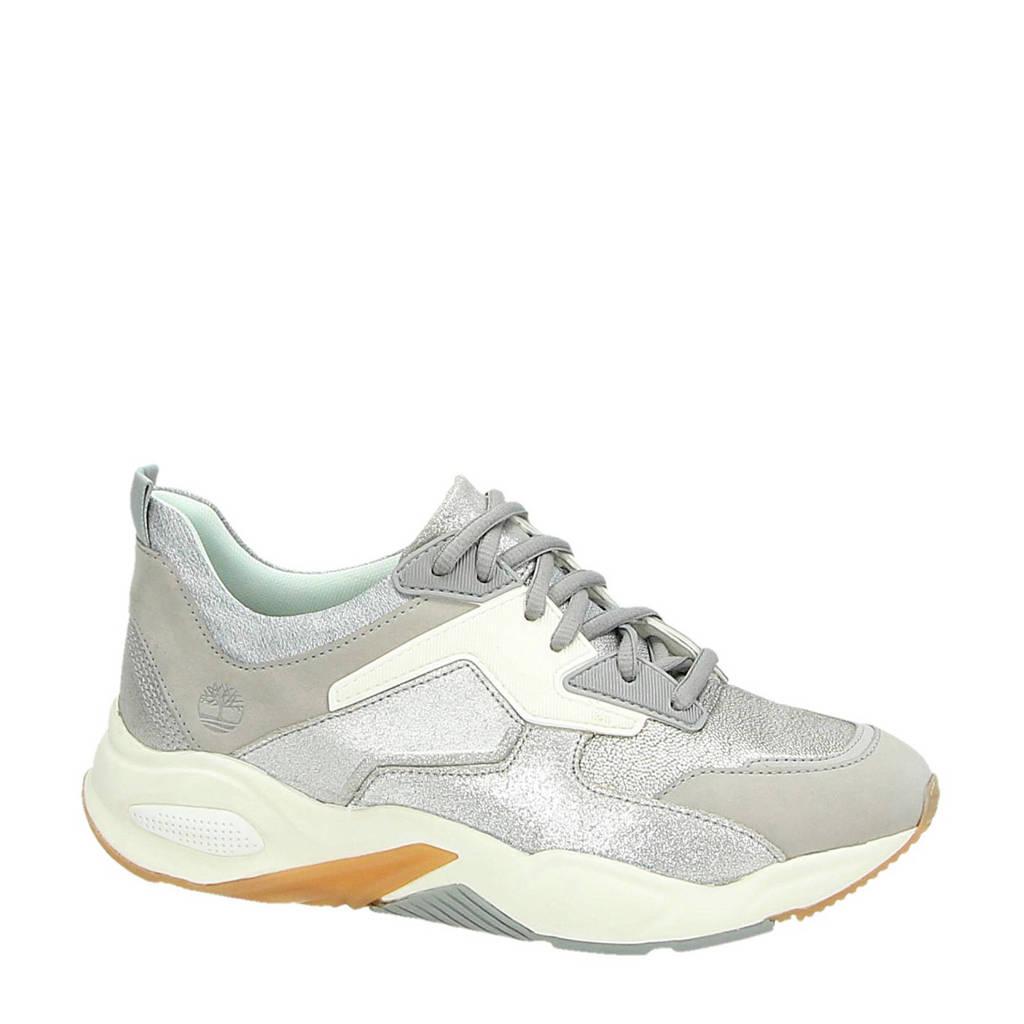 Timberland  Delphiville leren sneakers zilver, Zilver