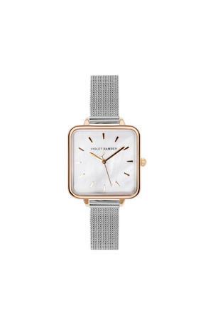 Dawn Aurora horloge VH02006 zilverkleurig