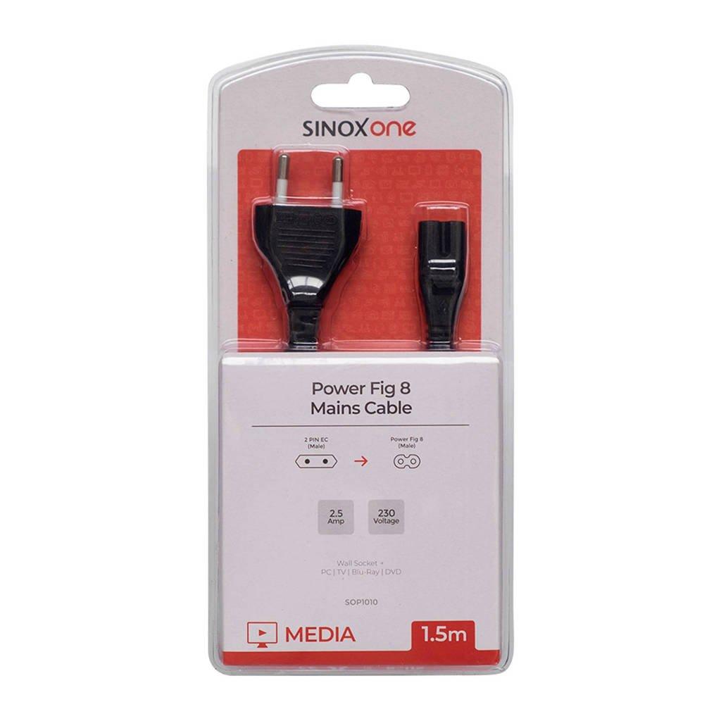 Sinox One Sinox apparaat aansluitsnoer C8, Zwart