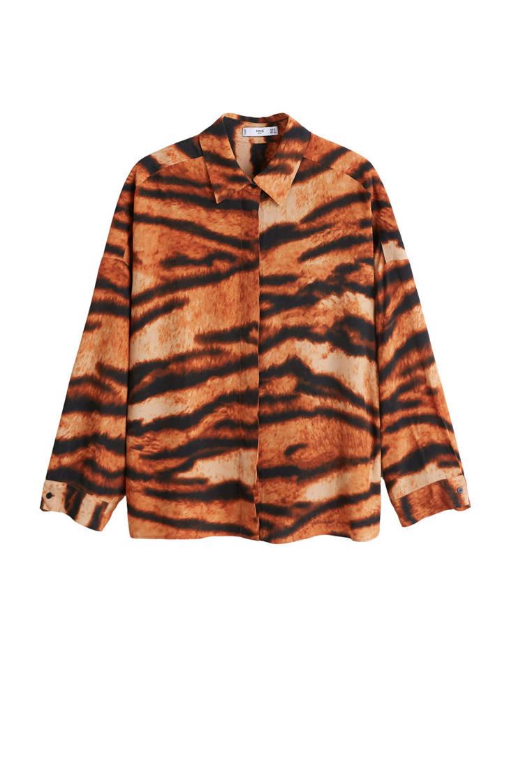 met blouse met tijgerprint tijgerprint met Mango Mango blouse tijgerprint blouse Mango AAx58qCr