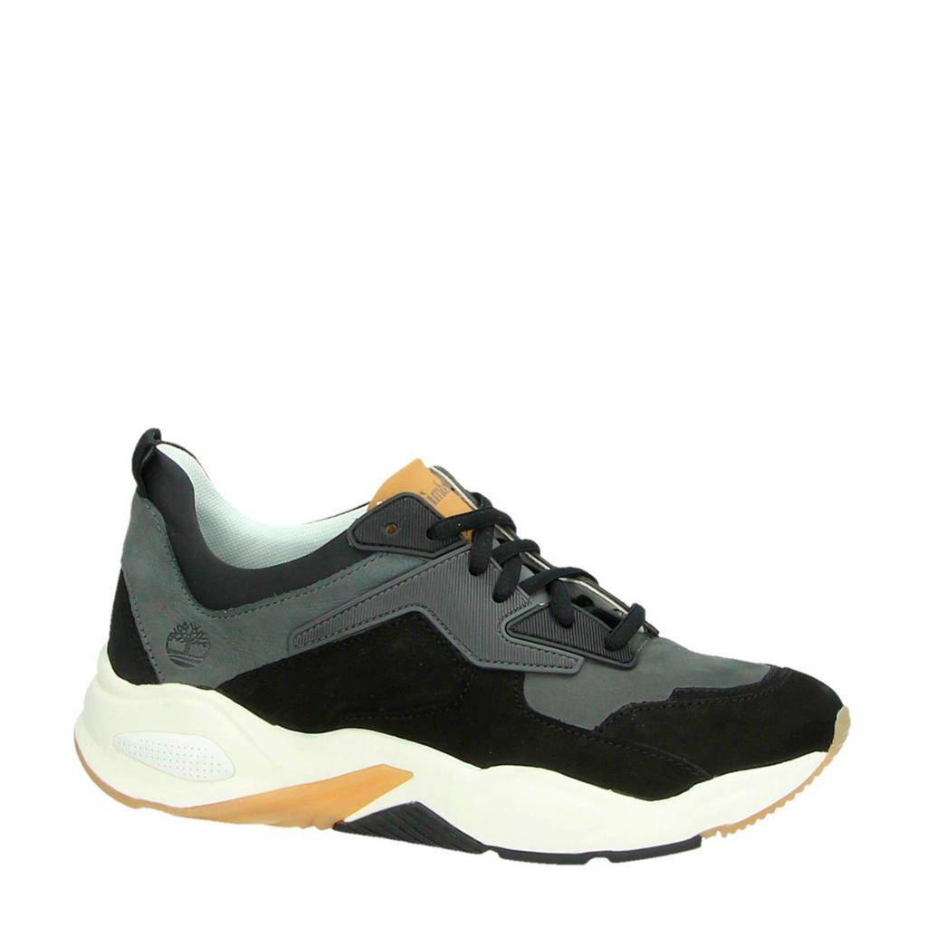 Timberland   Delphiville leren sneakers zwart, Zwart