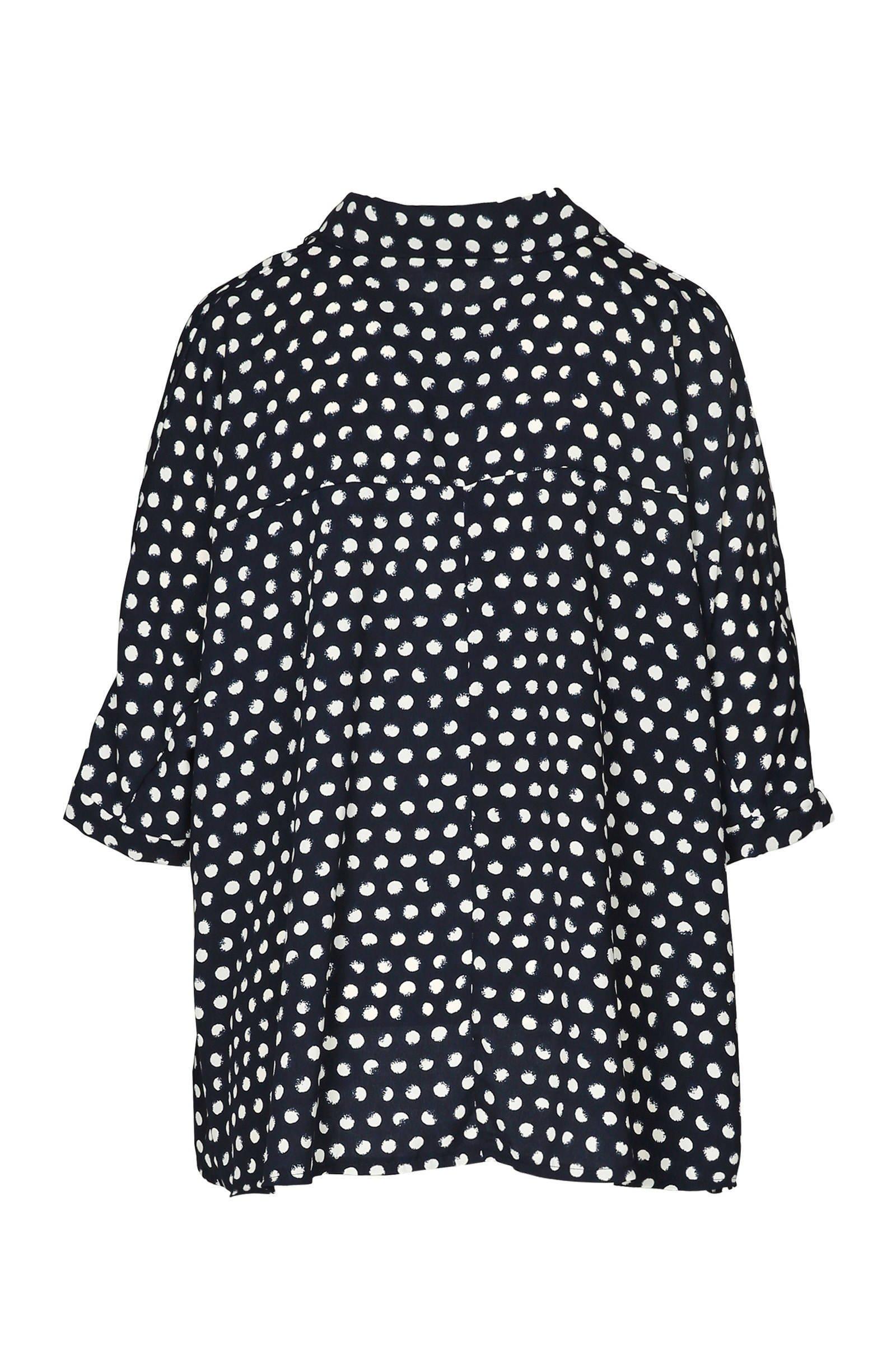 Cassis blouse Cassis met marine blouse met stippen stippen 1FFxU4