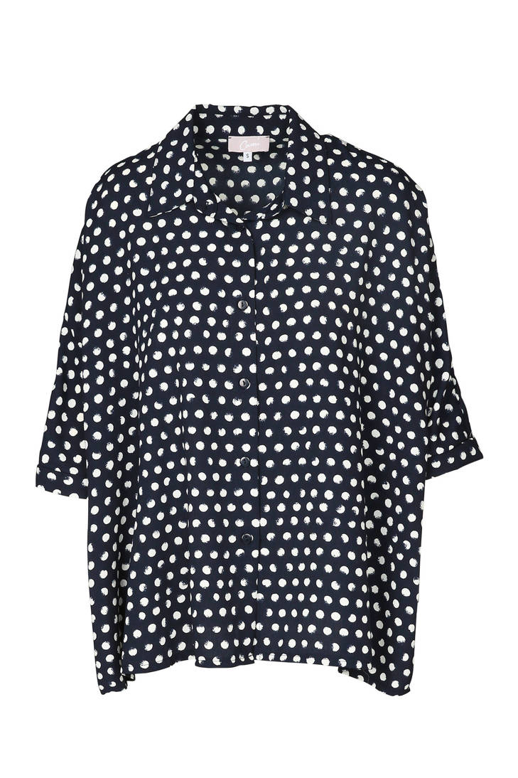 Cassis Cassis stippen marine blouse blouse met p0x5nSw