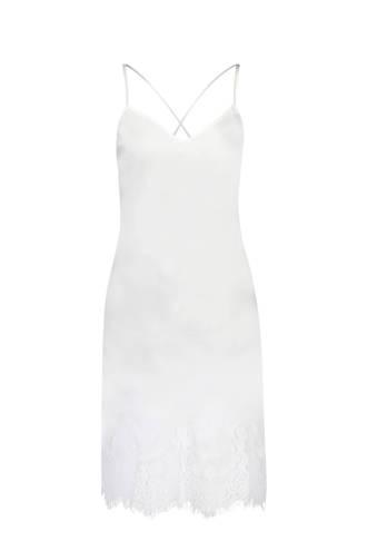 slipdress met kant wit