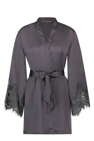 kimono met kant grijs