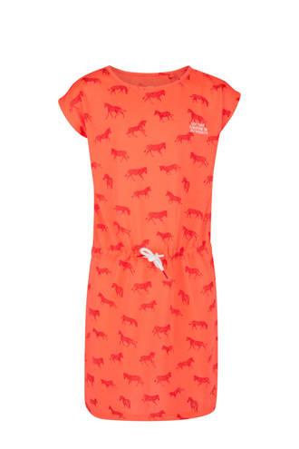jurk met zebra's koraal