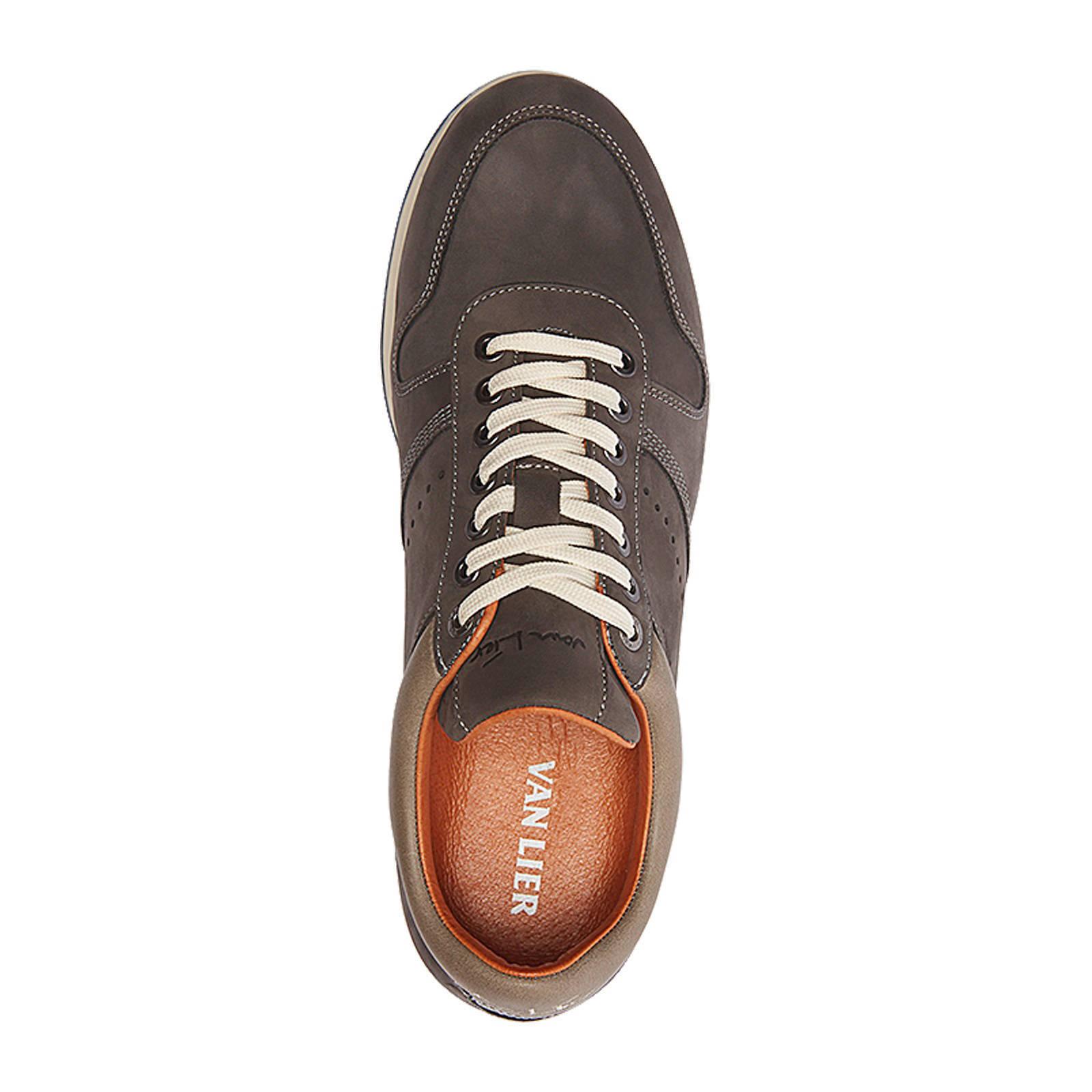 67d49f601bbd4a Van Lier nubuck leren sneakers | wehkamp