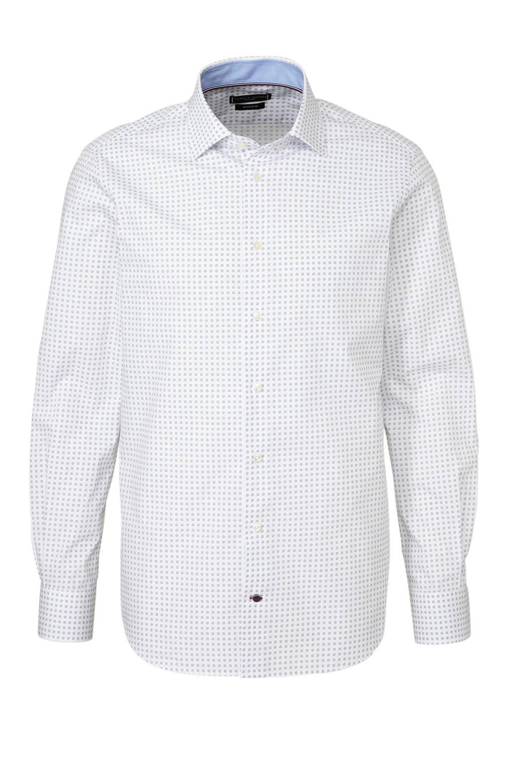 Tommy Hilfiger Tailored regular fit overhemd, Wit/blauw