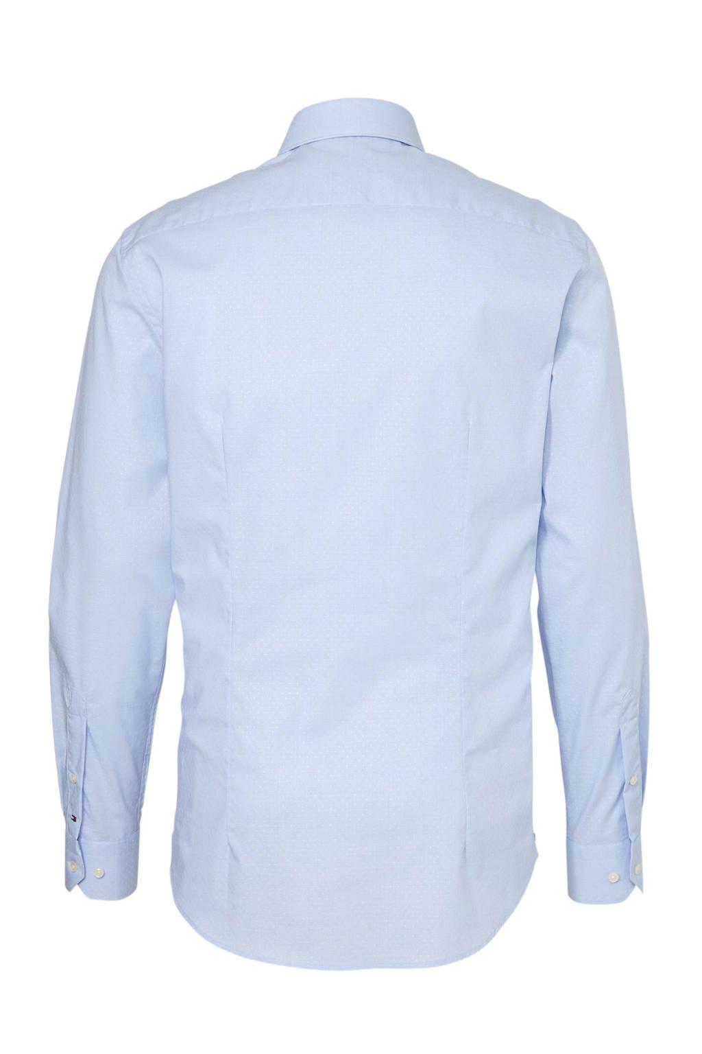 9bf9d50351e Tommy Hilfiger Tailored slim fit overhemd met print blauw   wehkamp