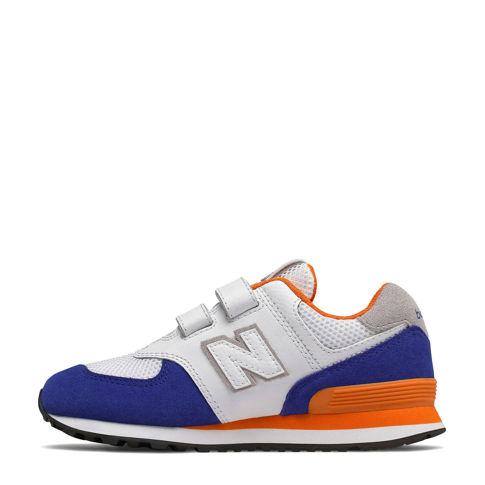 new balance 574 blauw oranje