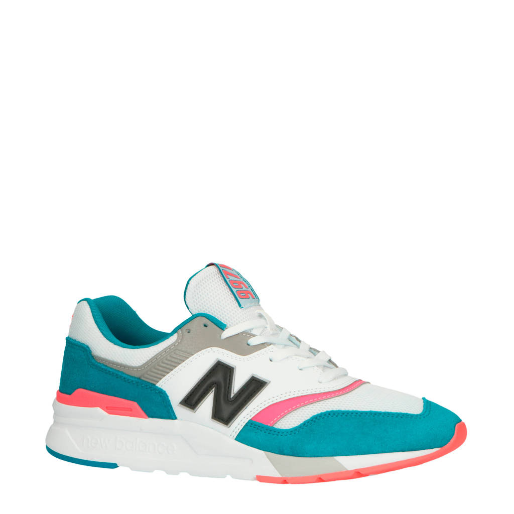 New Balance 997 sneakers wit/roze/turquoise, Wit/roze/turquoise