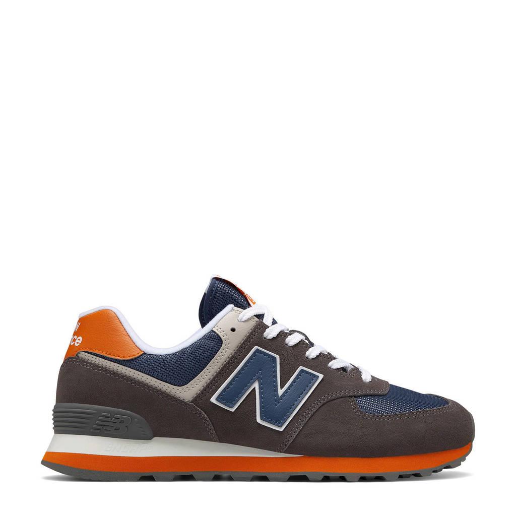 New Balance 574 sneakers grijs/blauw/oranje, Grijs/blauw/oranje