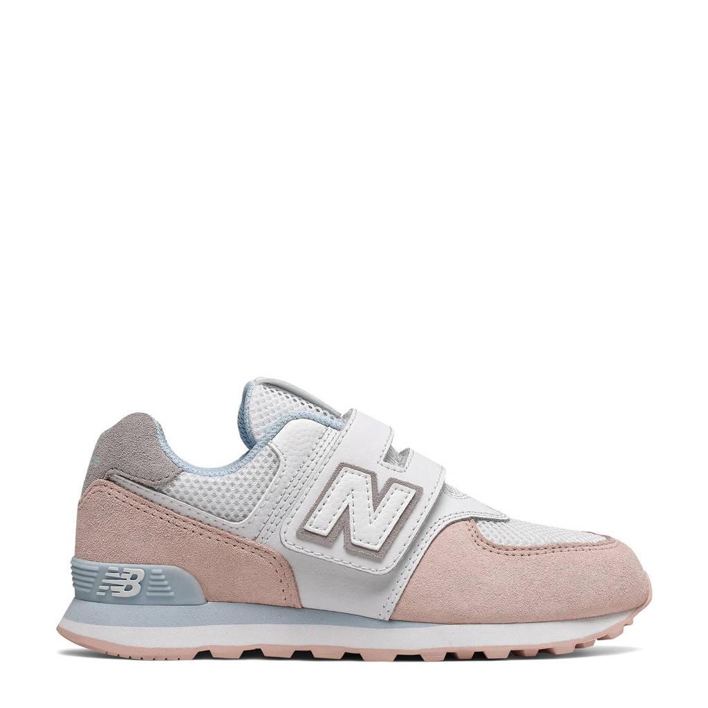 767209d75b7ff0 New Balance 574 sneakers wit/roze/grijs, Wit/roze/grijs