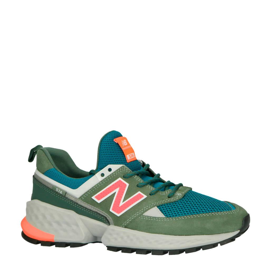 New Balance 574 sneakers groen/roze, Groen/roze