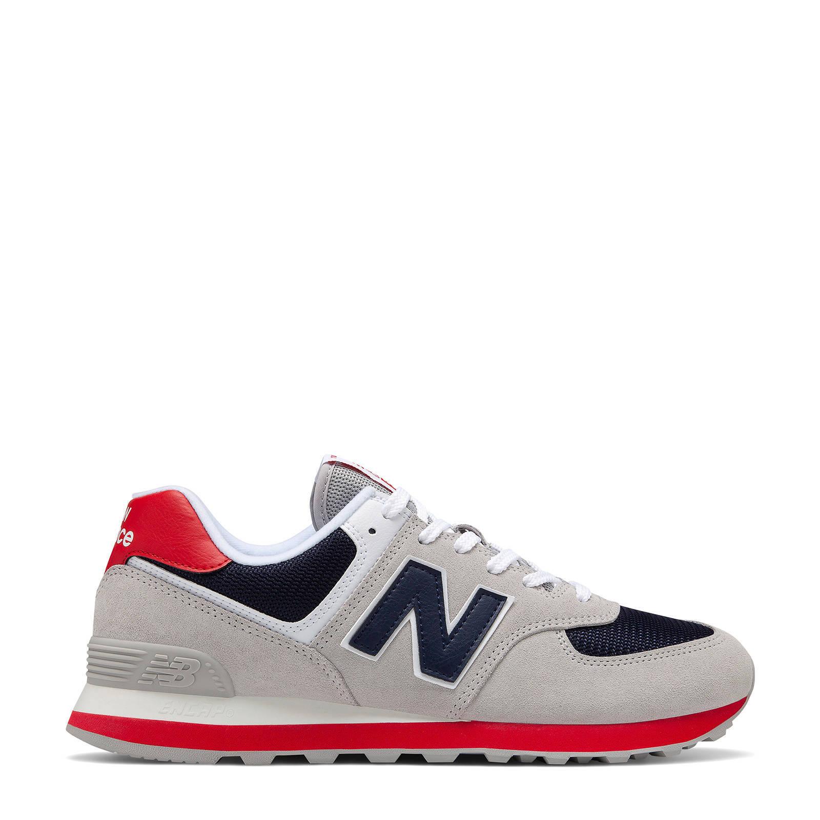 574 sneakers grijsblauwrood