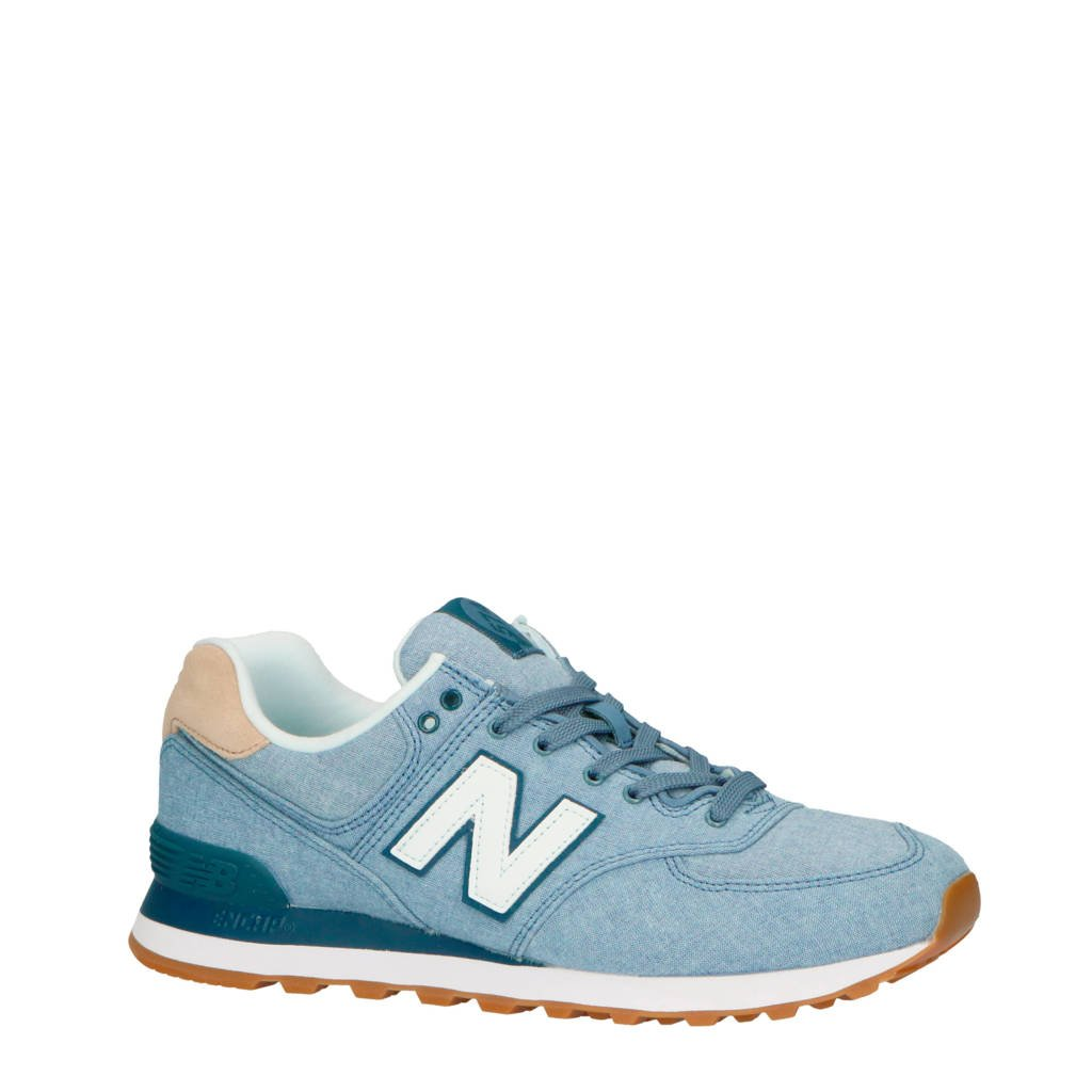 a205cb337bf New Balance 574 sneakers jeansblauw, Jeansblauw