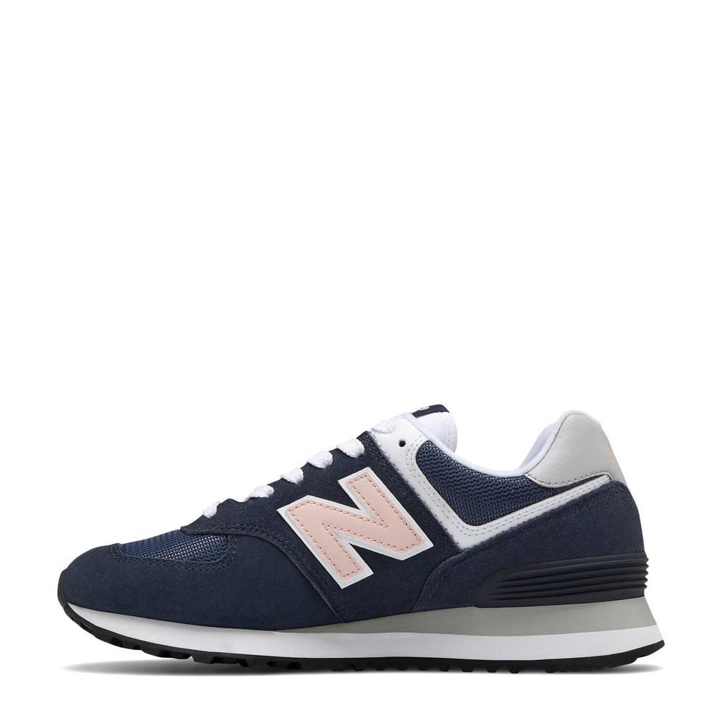 New Balance 574 sneakers donkerblauw/lichtroze, Donkerblauw/lichtroze