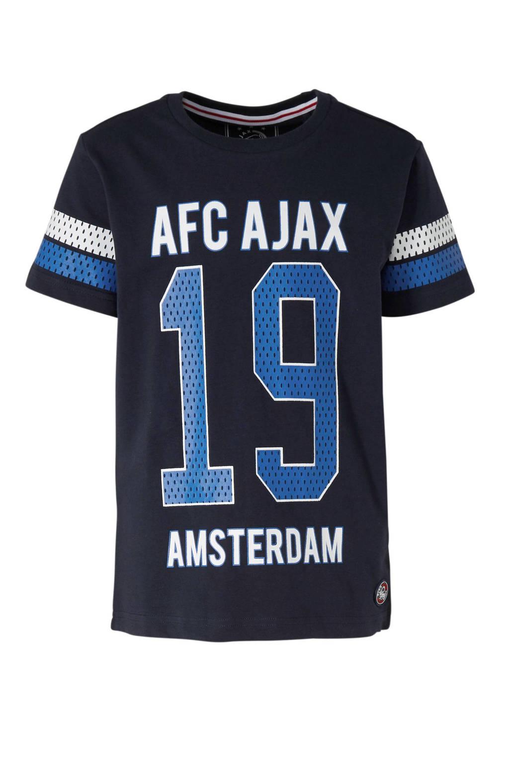 Ajax T-shirt met logo donkerblauw, Donkerblauw