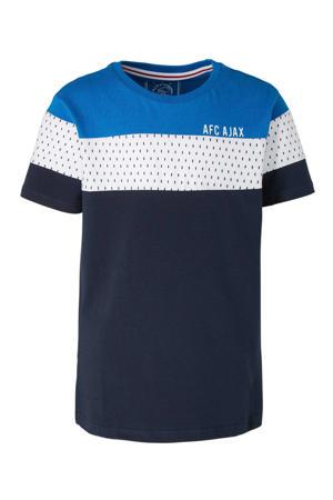 T-shirt donkerblauw/wit/blauw