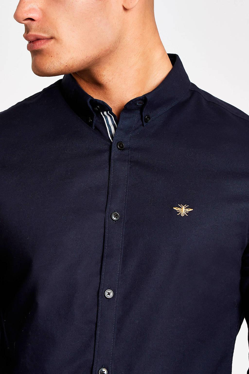 River Island overhemd, Donkerblauw