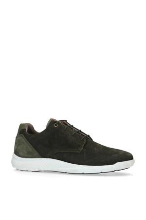 suède sneakers groen