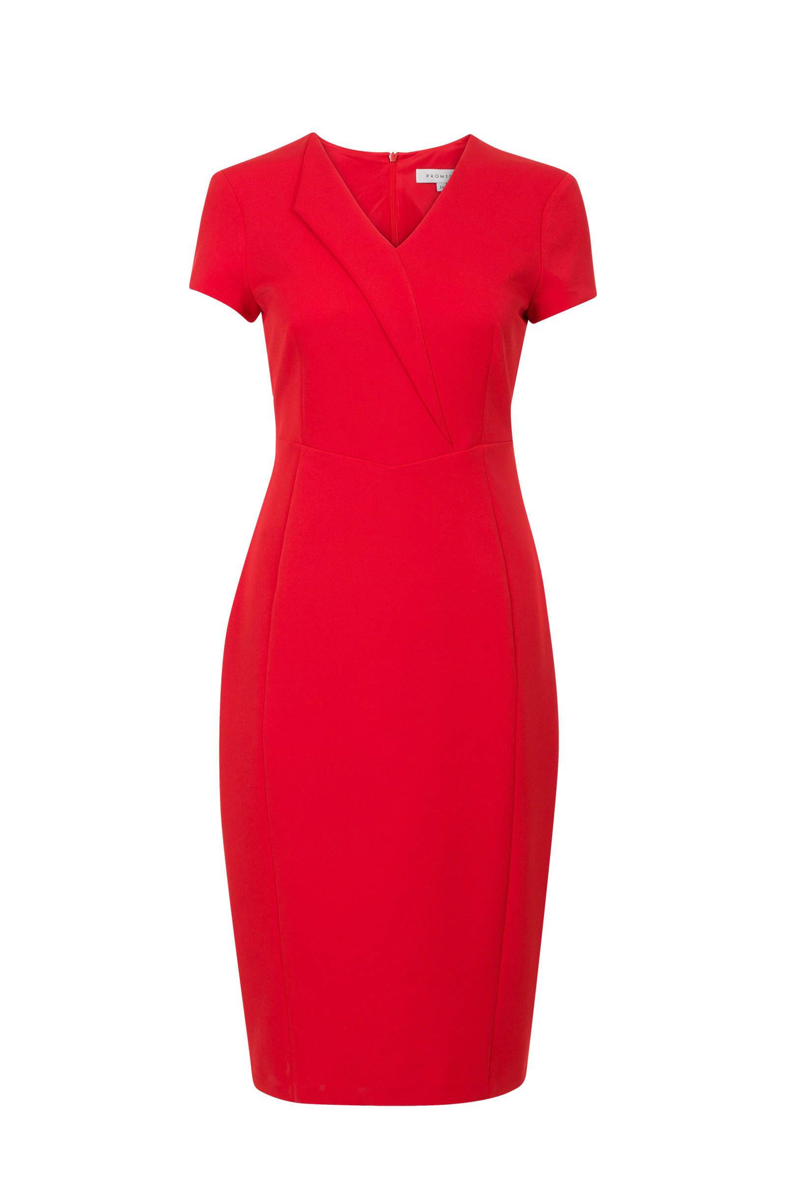 zakelijke jurk rood