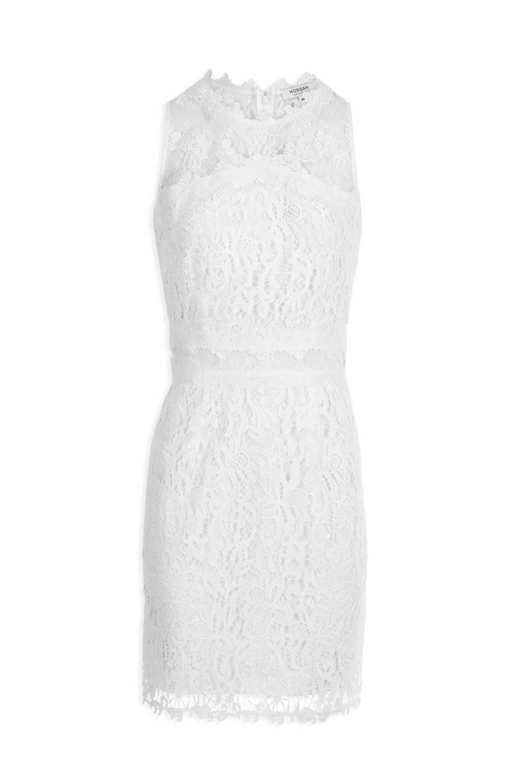 Morgan kanten jurk gebroken wit, Gebroken wit