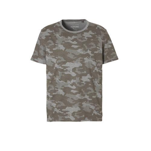 C&A Angelo Litrico T-shirt met camouflageprint grijs
