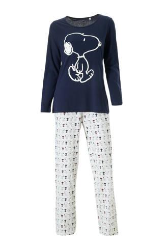 Snoopy pyjama blauw/ecru