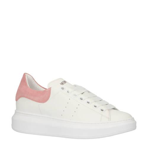 Antony Morato leren sneakers wit/roze kopen