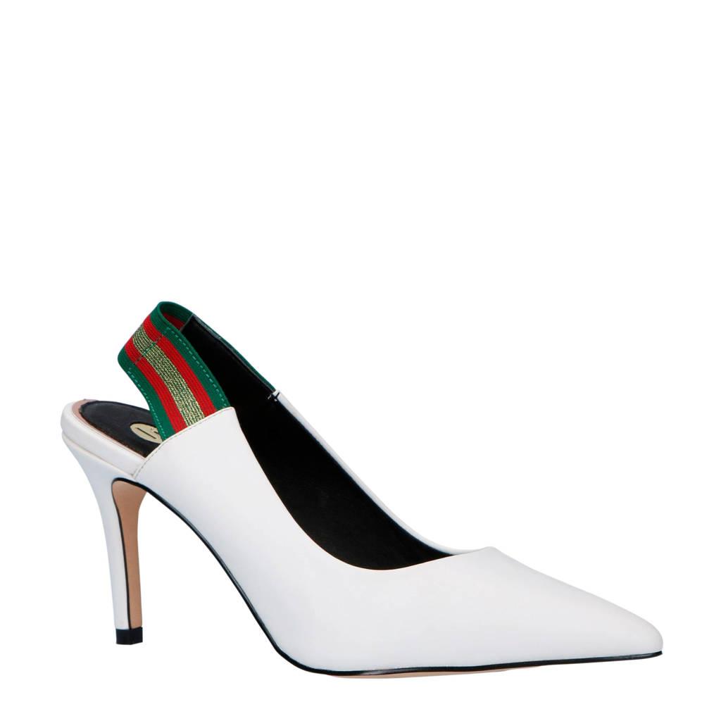 La Strada slingback pumps wit, Wit/Groen/Rood/Goud