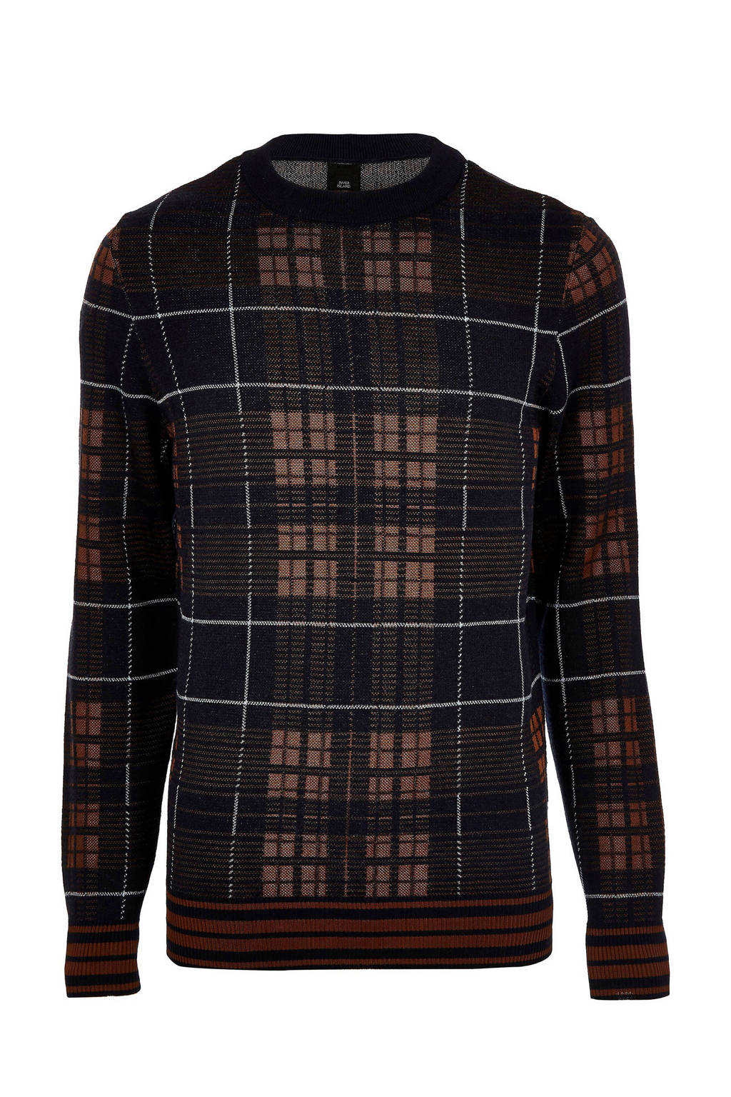 River Island trui met ruitprint, Donkerblauw
