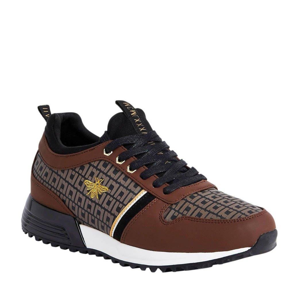River Island   sneakers bruin, Bruin/goud