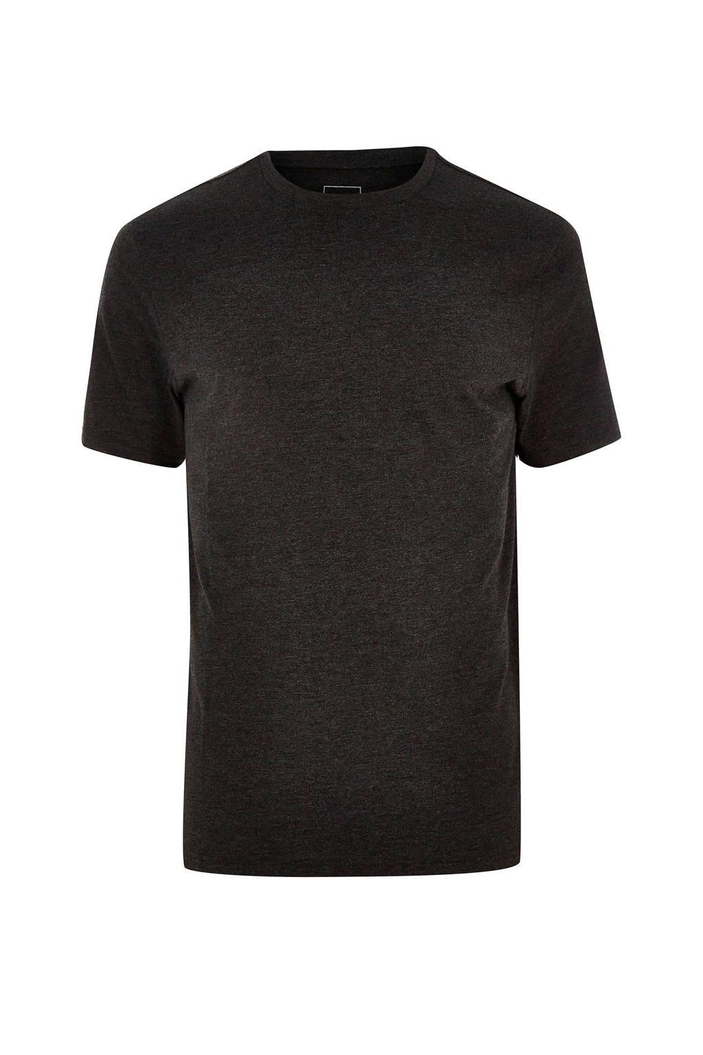 River Island T-shirt basic, Donkergrijs
