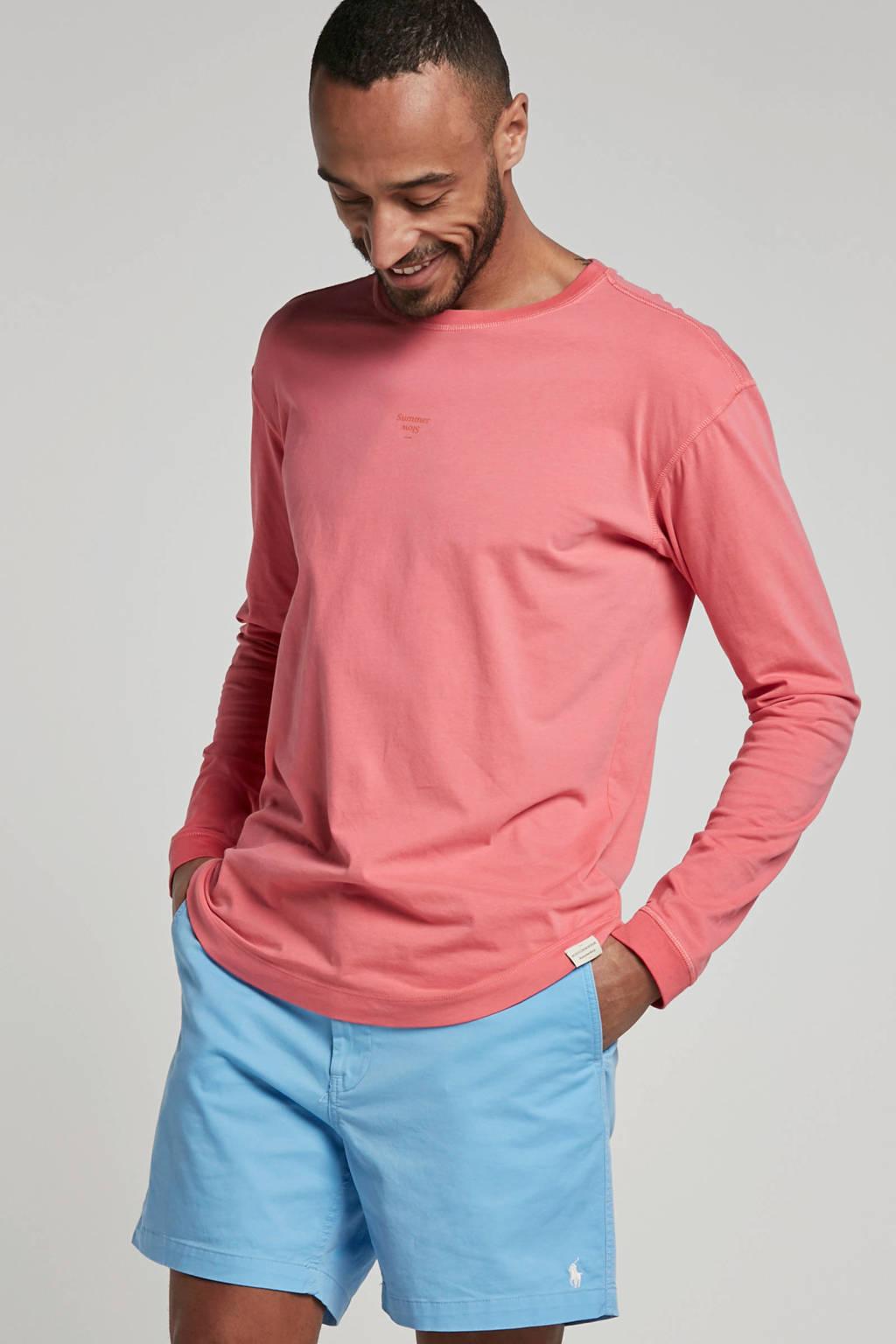 Scotch & Soda T-shirt lange mouw roze, Roze